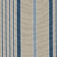 Hemp fabric from France. Ralph Laurens Cap Ferrat Stripe in Azure