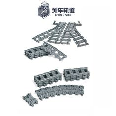 promo city trains train flexible track rail crossing straight curved rails building blocks set bricks model #train #model
