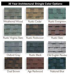 Owens Corning Shingle Colors Color Chart Owens Corning