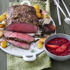 Roastbeef mit Orangen-Cranberry-Sauce