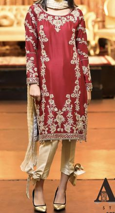 Embroidery Suits, Indian Embroidery, Embroidery Stitches, Hand Embroidery, Embroidery Designs, Pakistani Bridal Dresses, Pakistani Outfits, Indian Dresses, Groom Outfit