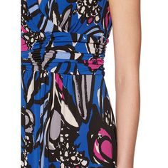BuyGina Bacconi Abstract Floral Print Jersey Maxi Dress, Cobalt Blue, 10 Online at johnlewis.com