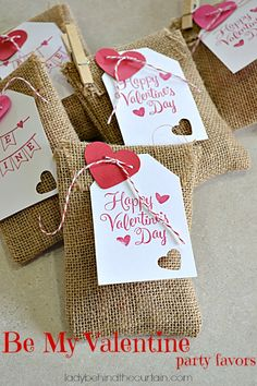 Be My Valentine Party Favors - Lady Behind The Curtain