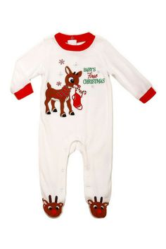 08571b7f1 Baby's First Christmas Rudolph footie pajamas - so perfect for opening  presents Christmas morning #ad