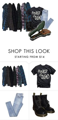 """""""i dunno"""" by monsterorcoffee ❤ liked on Polyvore featuring Dr. Martens"""