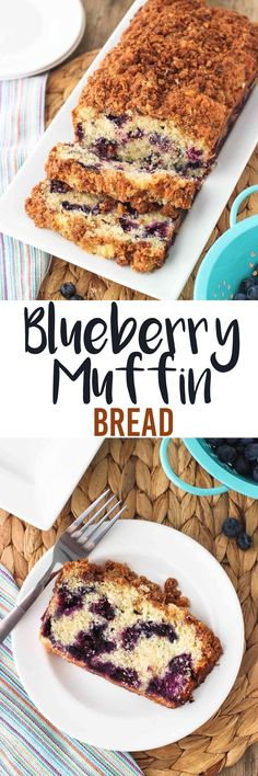 Blueberry Muffin Bread - a quick bread that's tender and soft like muffins, packed with juicy blueberries, and topped with walnut cinnamon streusel. mysequinedlife.com