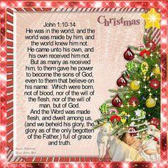 Treasure Box Gif Creations: Christmas John 1:10-14