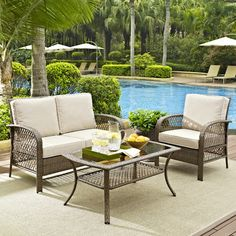Beachcrest Home Tribeca 3 Piece Deep Seating Group with Cushions