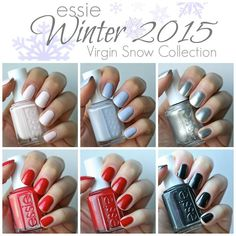 Essie Winter 2015 - Virgin Snow Collection | Essie Envy