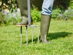 Fall lawn care is no walk in the park. It's hard work; let us guide you through four basic steps to make lawn care easier, though. Fall Lawn Care, Lawn Care Tips, Organic Gardening, Gardening Tips, Organic Fertilizer, Indoor Gardening, Lawn And Garden, Home And Garden, Lawn Sprinklers