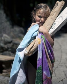 Young Zamora is carrying the baguettes (July 8, 2012, Kings Mountain, CA)