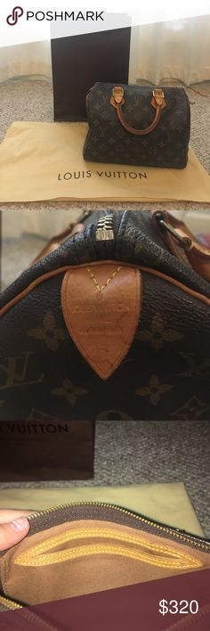 Louis Vuitton Speedy handbag (AUTHENTIC) Louis Vuitton speedy 25 handbag (used) Louis Vuitton Bags Shoulder Bags