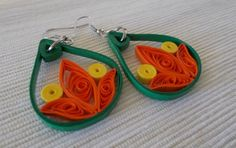 Quilled Paper Earrings | Abstract Drops - by: Anama Lili