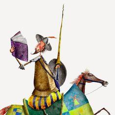 Il·lustració de Cosei Kawa Pinzellades al món: Quixot il·lustrat / Quijote ilustrado / Don Quixote illustrated