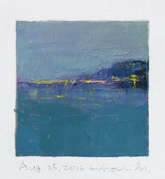 Aug. 25 2016  Original Abstract Oil Painting  by hiroshimatsumoto