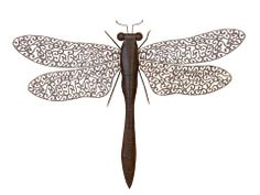 Delicate Scrolls Dragonfly Art