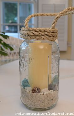 Between Naps on the Porch | Make a Lantern for Summer Parties | http://betweennapsontheporch.net WOULD BE BEAUTIFUL FOR BEACH WEDDING