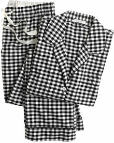 I'm not too fond of b&w on myself, but I know of others who could make this work. J crew Pajama Set in Gingham Flannel - Lyst