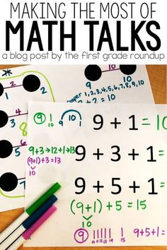 I've had many failed Math Talks over the years, too. But I knew in my heart that number talks was a best practice because it was best for kids. So, I dug in my heels, and found 4 ways to make the most of a Math Talk. Math Resources, Math Activities, Math Games, Classroom Resources, Daily 5 Math, Number Talks, Math Talk, Math Graphic Organizers, Framed Words