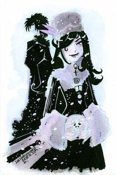 Death and Sandman in Snow by ~DivaLea on deviantART