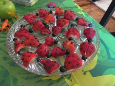 Strawberry Lady Bugs Bug Birthday party