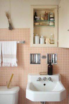 pink bathroom ideas pink square tile bathroom