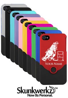 iPhone 4 Case/Cover Barrel Racer Woman  Personalized by CustomEtch, $13.95