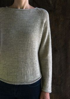K Lightweight Raglan Pullover BY PURL SOHO must use heavier weight tarn and make longer also make larger.