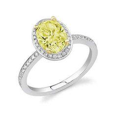 1.26 ct. t.w. Yellow Diamond Bridal Ring (H-I, I1)