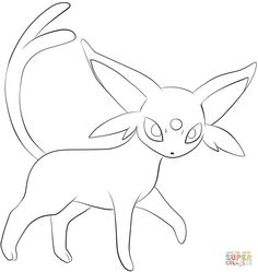 espeon coloring page from generation ii pokemon category select from 28148 printable crafts of cartoons nature animals bible and many more