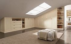 If you are lucky enough to have an attic in your home but haven't used this space for anything more than storage, then it's time to reconsider its use. An attic Home, Home Bedroom, Bedroom Design, Built In Cupboards, Build A Closet, Attic Bedroom Designs, Bedroom Loft, House Interior, Closet Remodel