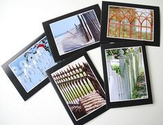 Fences Photo Greeting Cards Set of 5 Blank by CarolaBartz on Etsy