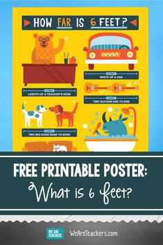 Social Distancing Poster: What Is 6 Feet? (Free Printable). Decorate classrooms and hallways while reminding students to keep a safe space between themselves and others with this free social distancing poster. #printables #poster #classroomdecor #healtheducation #healthystudents #teaching #teachers Classroom Rules, Classroom Posters, We Are Teachers, Middle School Teachers, Letter To Teacher, Student Behavior, Critical Thinking Skills, Kids Poster, Character Education