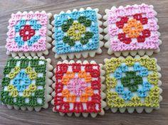 Granny Square Crochet Cupcakes