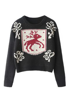 Fawn Knitted Black Jumper