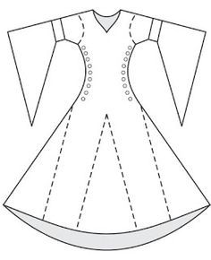 DRESS pattern bliaud - site has some good line drawings of shapes of different pieces Ward Ward Ward Ward James - I think we like this for you. Medieval Fashion, Medieval Clothing, Costume Patterns, Dress Patterns, Barbie Sewing Patterns, Historical Costume, Historical Clothing, Barbie Clothes, Diy Clothes