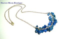 Chakra Throat Artisan Necklace Blue Kyanite Beaded by AngiePinkal