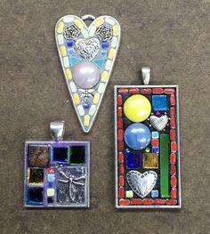 Mosaic pendants by Lisa