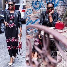 Dark Floral Maxi Dress Styles To Slip Into