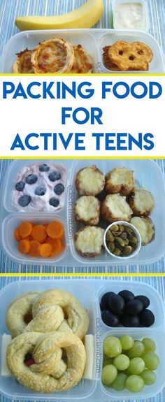 Tips for Packing Food for Active Hungry Teens - Here are tips for packing food for hungry teens on the go. Healthy after school snack ideas are included too. These tips from a packing expert have been tested and approved by teens.