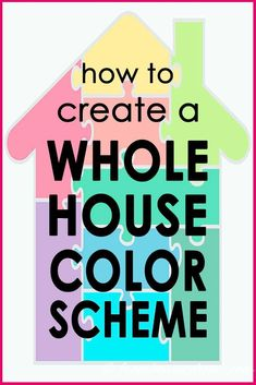 Great ideas for choosing a whole house color scheme or color palette that will make your rooms flow from one to the other. I love color so I'm very happy to find a tutorial on how to pick interior paint colors that can be bright and bold but still look beautiful and cohesive. #colorscheme #paintcolor #decoratingtips #interiordecoratingtips