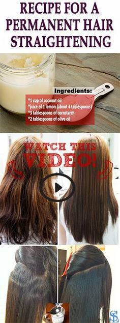 Diy hair straightening cream pinterest softer hair diy hair and 4 ingredients recipe for a permanent hair straightening solutioingenieria Images