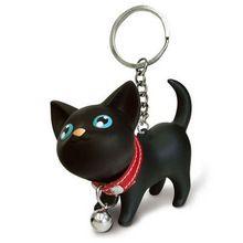 Boneca miau chaveiro gato gatinho chaveiro brinquedo sino casal corrente chave do amante anéis para bolsa presente bonito # EE(China (Mainland))