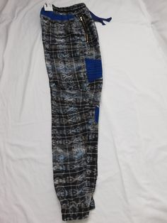 Hand woven patchwork joggers
