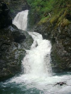 Thunderbird Falls,  Chugach State Park near Anchorage, Alaska