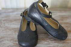 Vintage Mary Janes Retro Navy Blue T Strap - I need these in brown for Anna