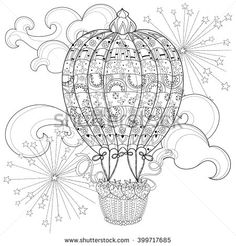 Pin by Rena Robinson on My coloring pages Pinterest Hot air