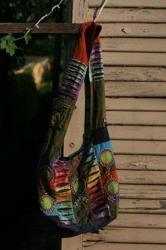 Bohemian Hippie Crossbody Bag Shoulder Sling Purse Handmade in Nepal