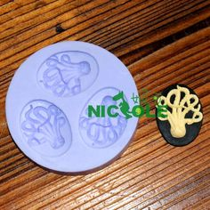F0074 Octopus 3-hole Mini Molds Silicone Resin Molds Jewlery Molds Silicone Molds for Expoxy Craft Silicone Soap Molds. $3.80, via Etsy.