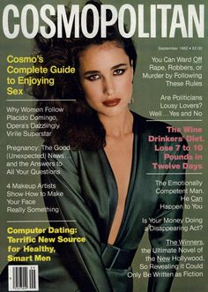 Andie MacDowell by Francesco Scavullo for Cosmopolitan, September 1982.